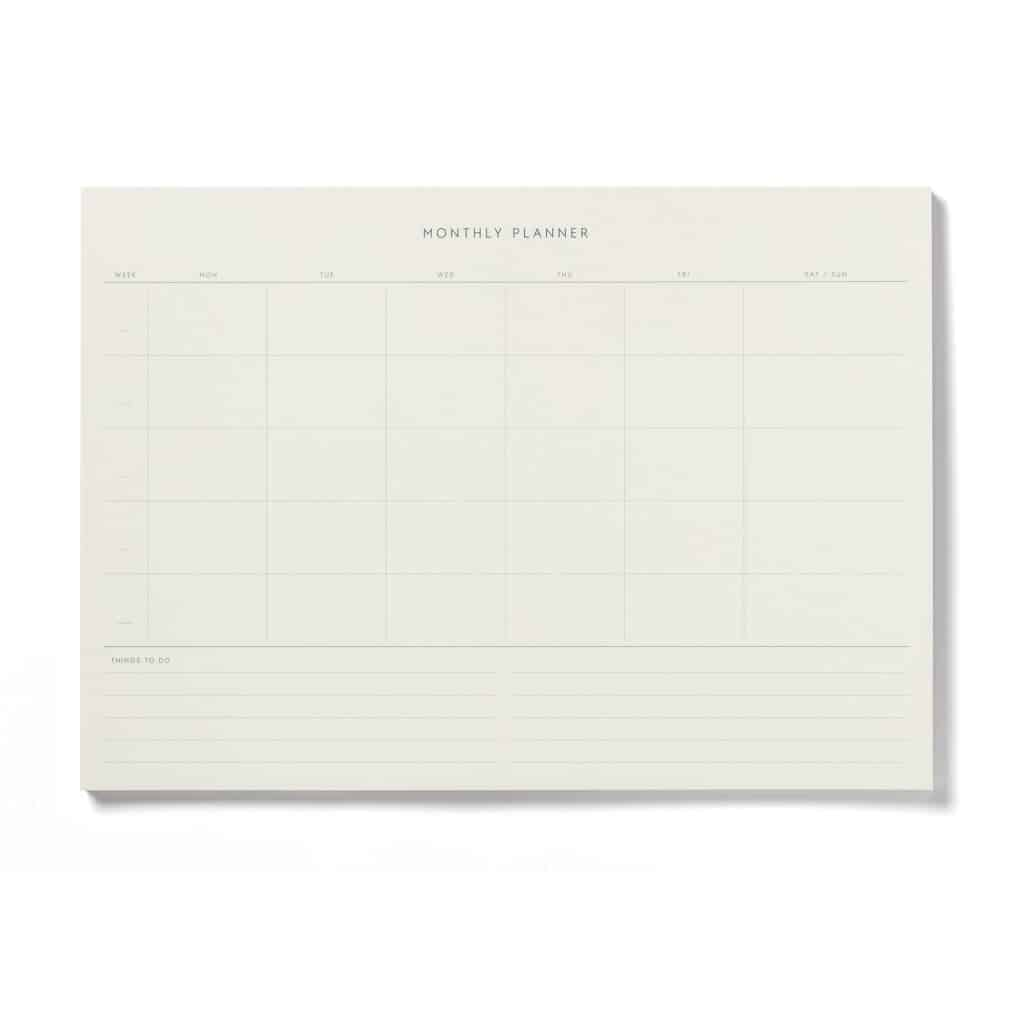 NP-0007 Monthly Planner A4